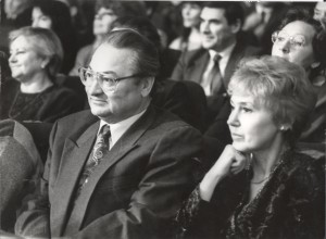 Бураўкін Генадзь з жонкай Юліяй. Мінск. 1994 г. Фота Я.Коктыша.