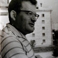 Адам Мальдзіс на балконе. Мінск, ліпень 1967 г