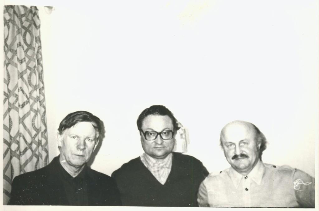 Злева направа: Васіль Быкаў, Ігар Лучанок, Ніл Гілевіч.